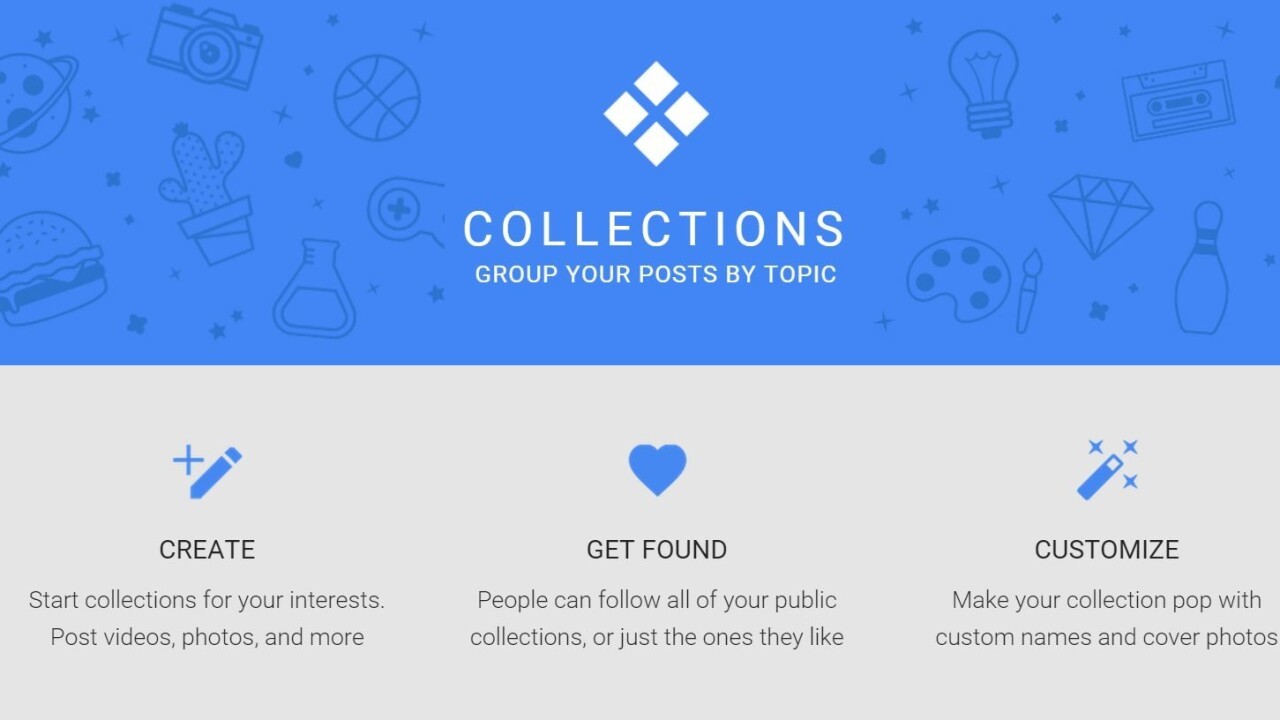 Google+ is rolling out Collections, its Pinterest competitor