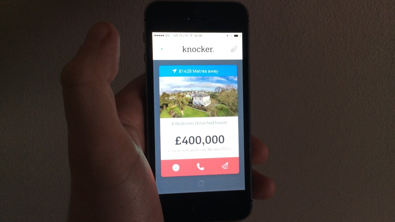 Knocker is Tinder for finding UK property… No wait, that's a good thing
