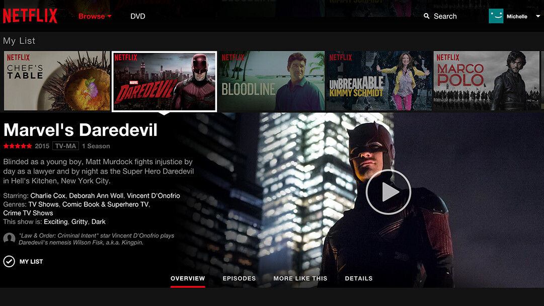 Netflix is readying a new Web interface to offer a more 'immersive experience'