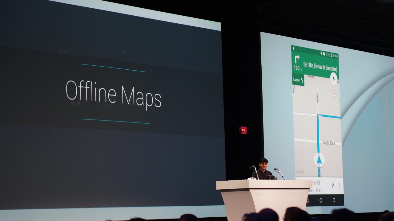 Google announces offline Maps support, including navigation and reviews