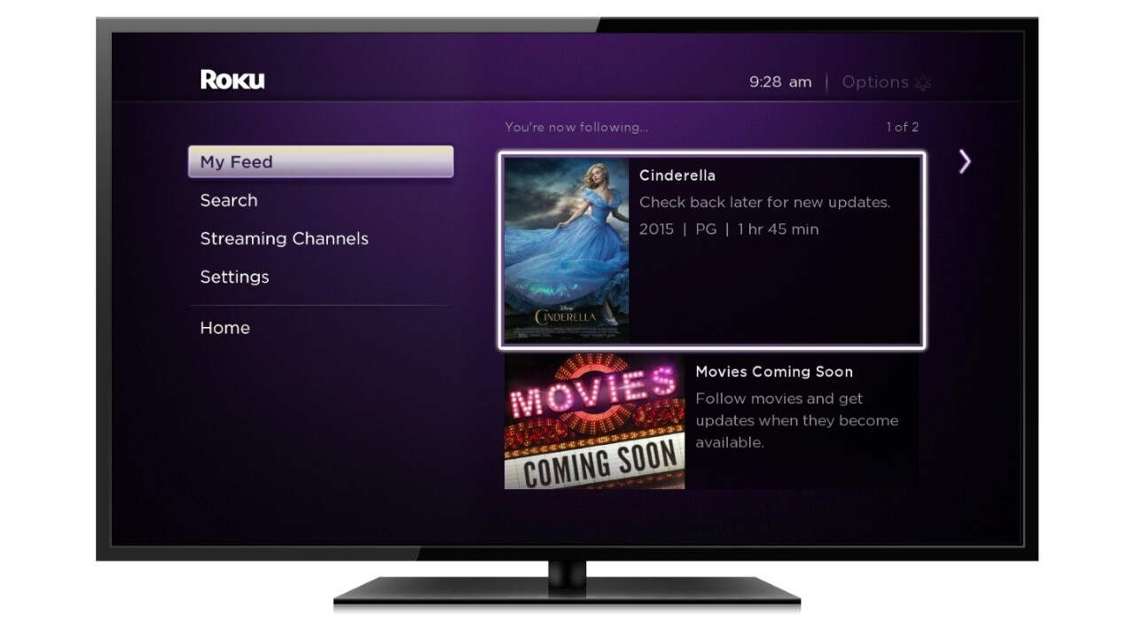 Roku rolls out new Search and Feed features, releases Roku 2 player in the UK