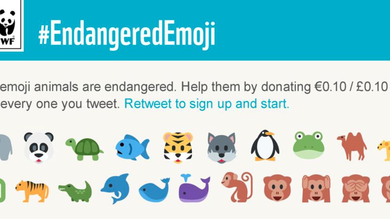 You can now tweet emoji to save endangered animals