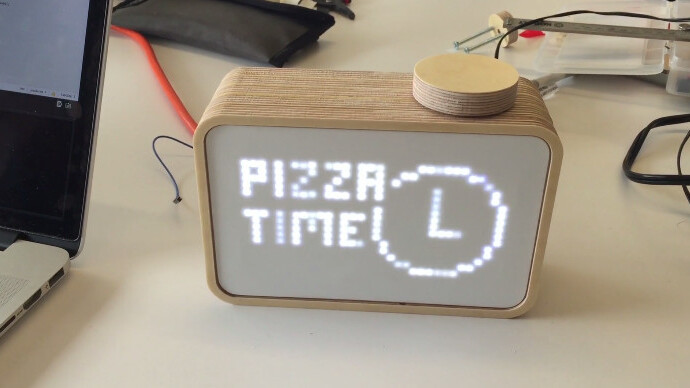 If only we could buy this pizza-ordering clock