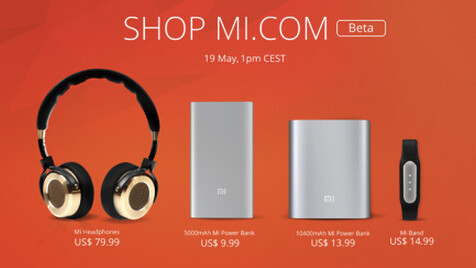 Xiaomi will start selling Power Banks, headphones and fitness trackers in the UK, US, France and Germany on May 19