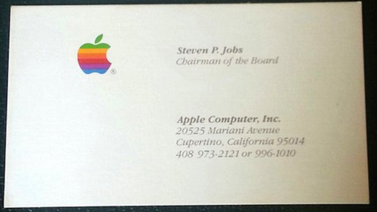 Got $3,000? You can bid for Steve Jobs' Apple, Pixar and NEXT business cards