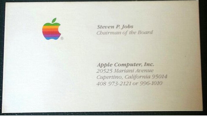 This guy spent $10,000+ on Steve Jobs' old business cards to promote his app