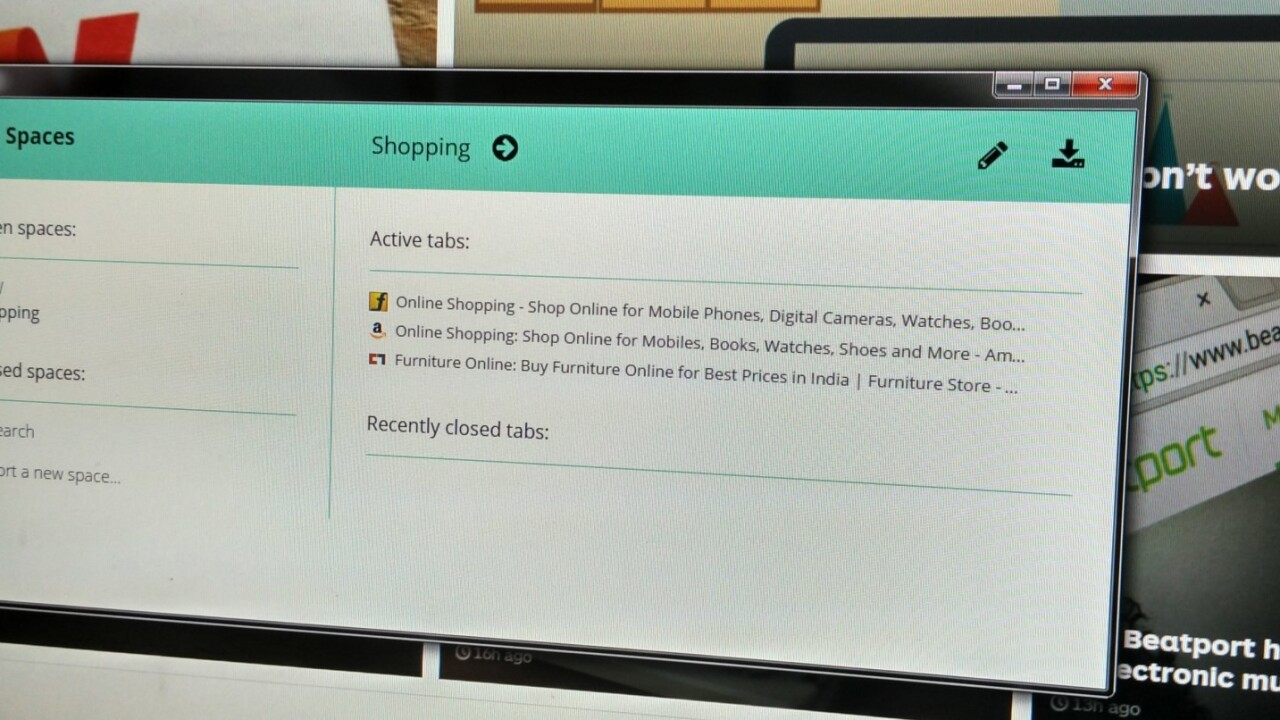 This Chrome extension turns your browser windows into manageable workspaces