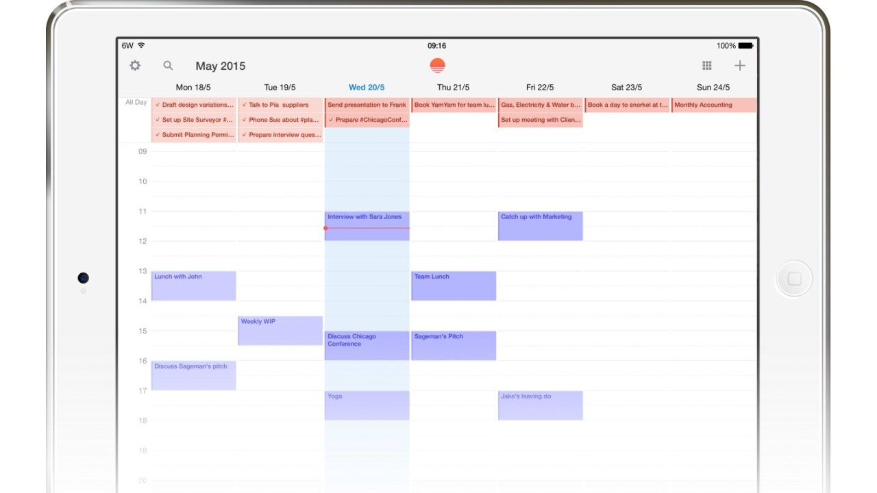 You can now view and create Wunderlist tasks in Sunrise Calendar