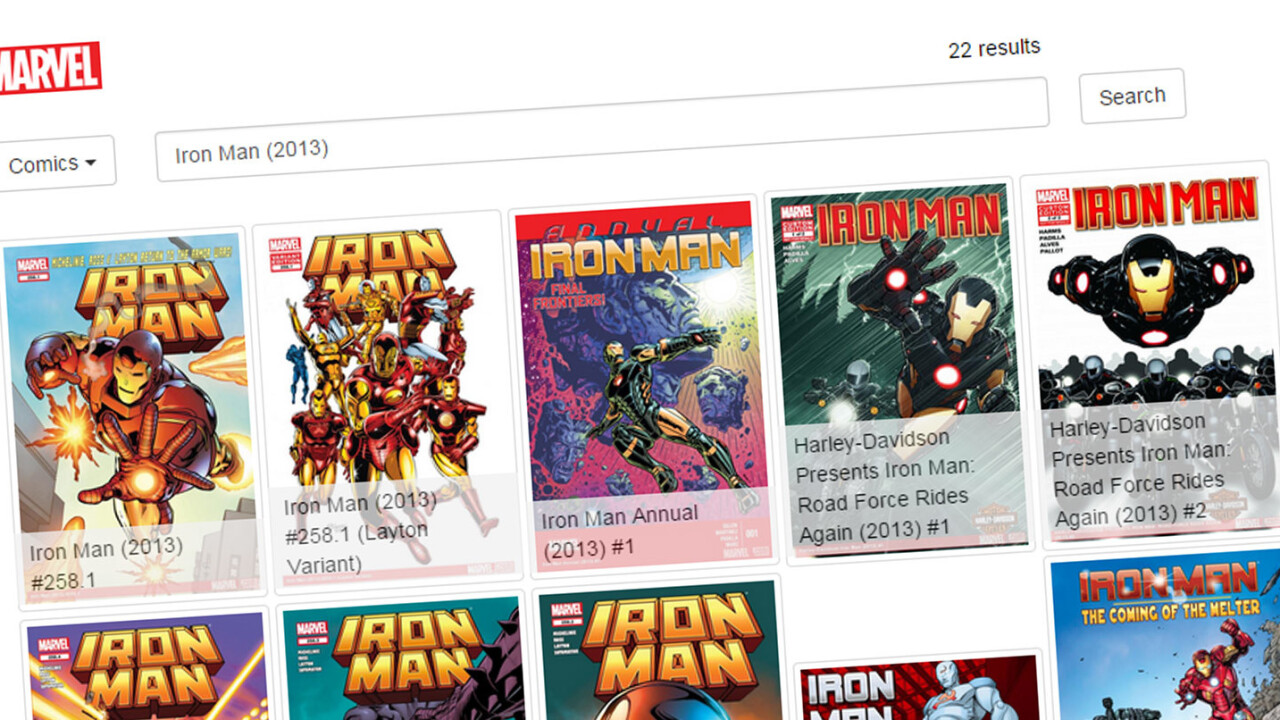 Explore the Marvel universe with this dedicated search engine
