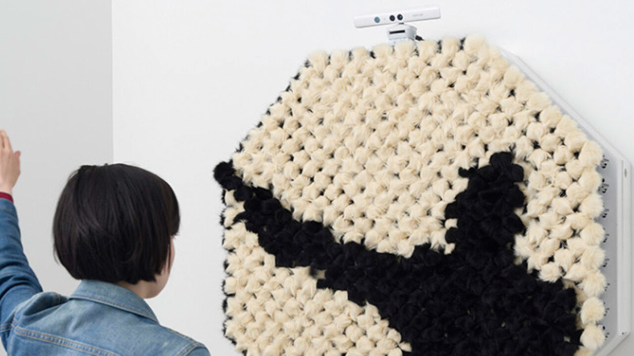This Kinect-powered pom pom mirror makes you fluffy in real-time