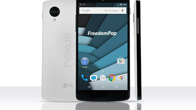 Nexus 5 and 1-year Unlimited Talk-and-Text from FreedomPop: 65% off