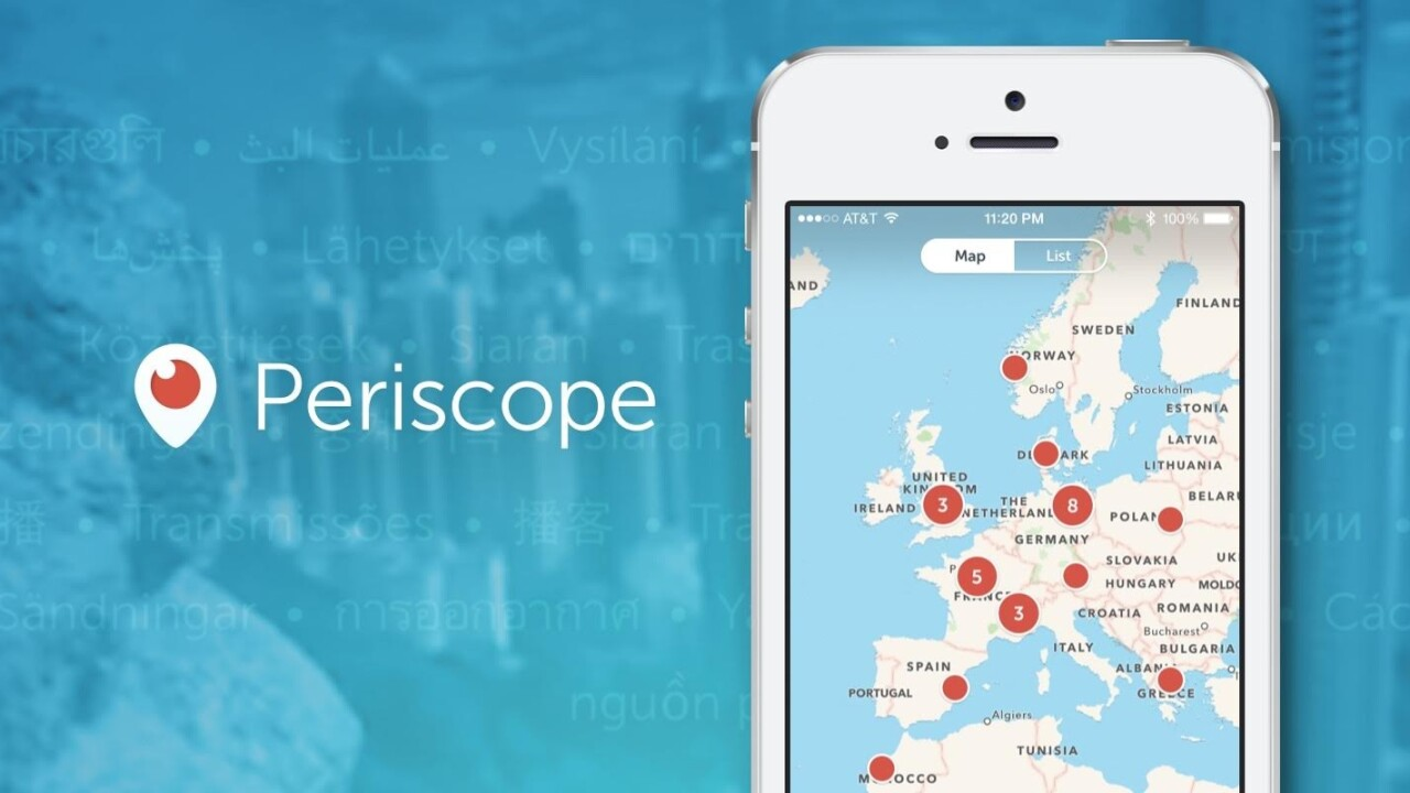 Periscope for iOS update brings new map view to help you discover interesting streams
