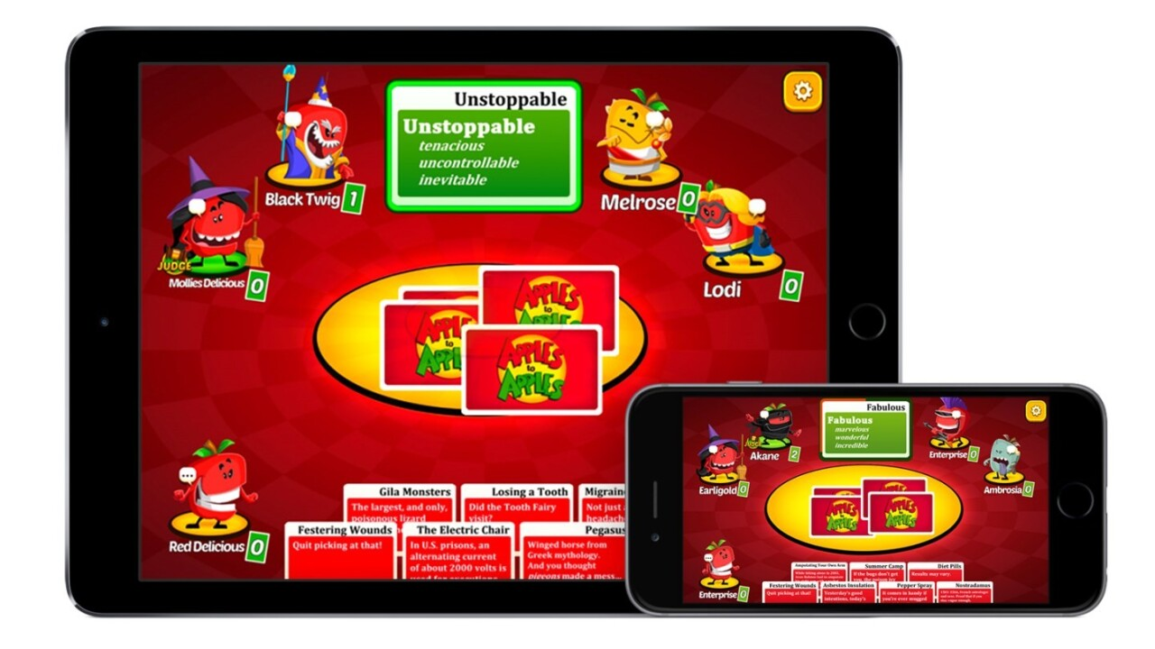 Classic kids' game Apples to Apples arrives on iOS