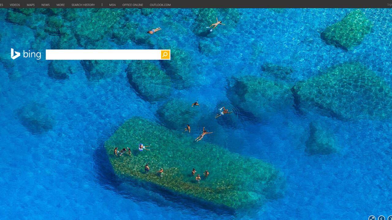 Bing's homepage now plays audio alongside the beautiful full-screen videos