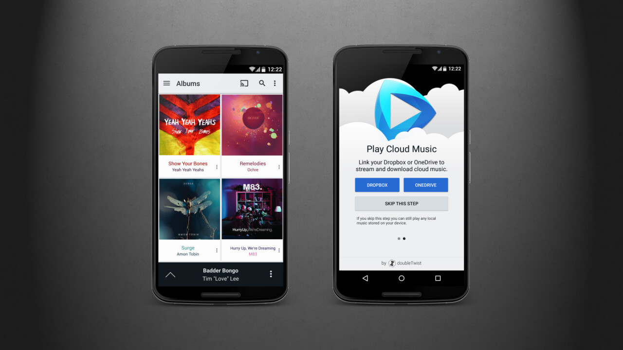 DoubleTwist's CloudPlayer for Android streams music from all your online storage