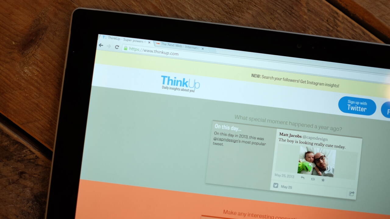 ThinkUp's handy social media tool adds search, Instagram insights