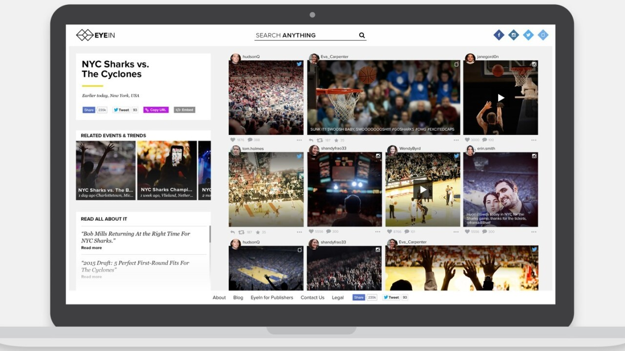 Mobli's EyeIn smart visual search crowdsources the right images for publishers