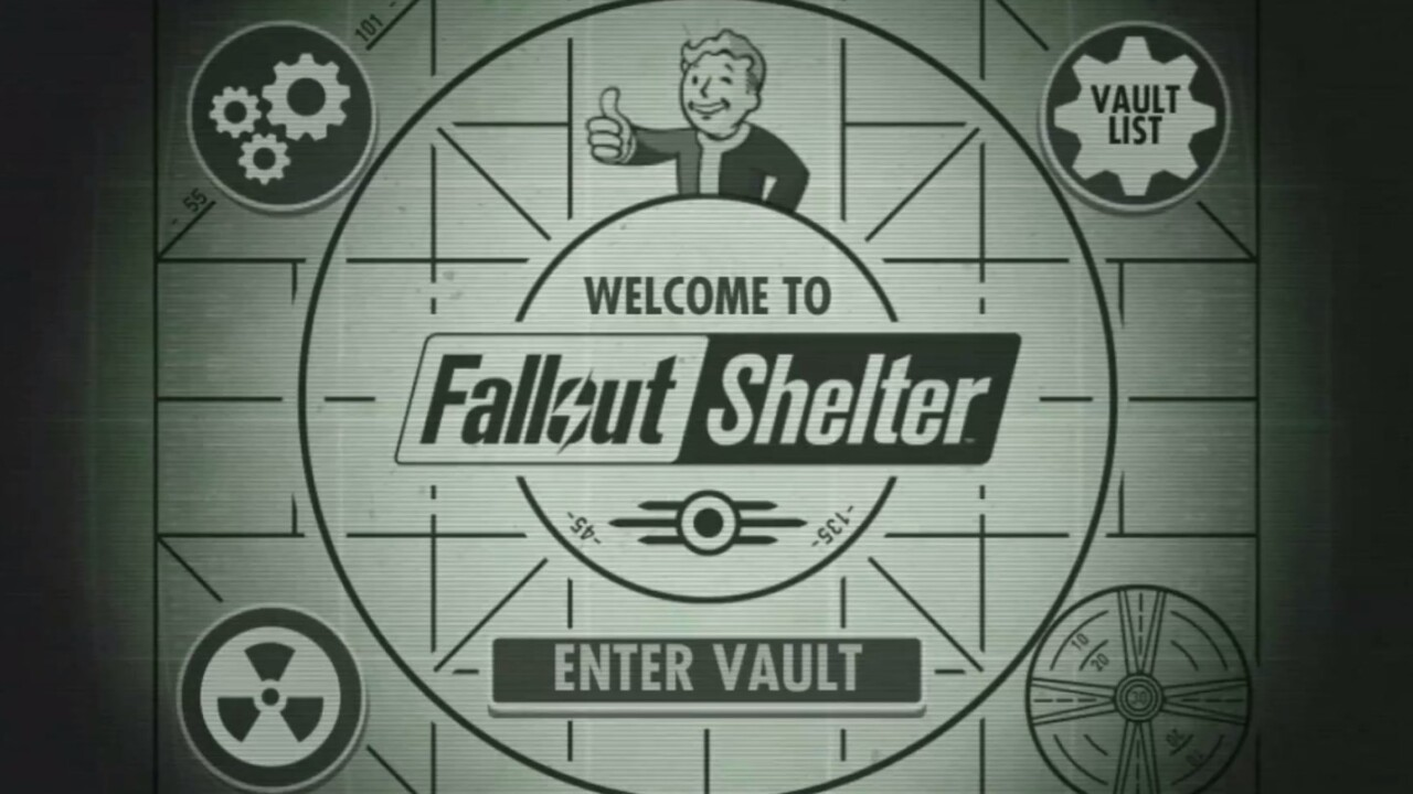 Fallout Shelter, Bethesda's nuclear shelter management game, is out now on iOS