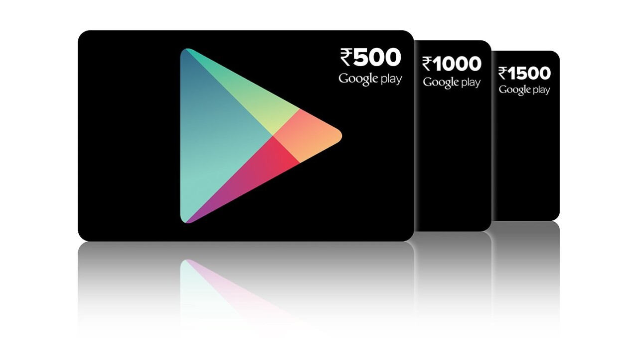 You can now gift Google Play prepaid vouchers in India