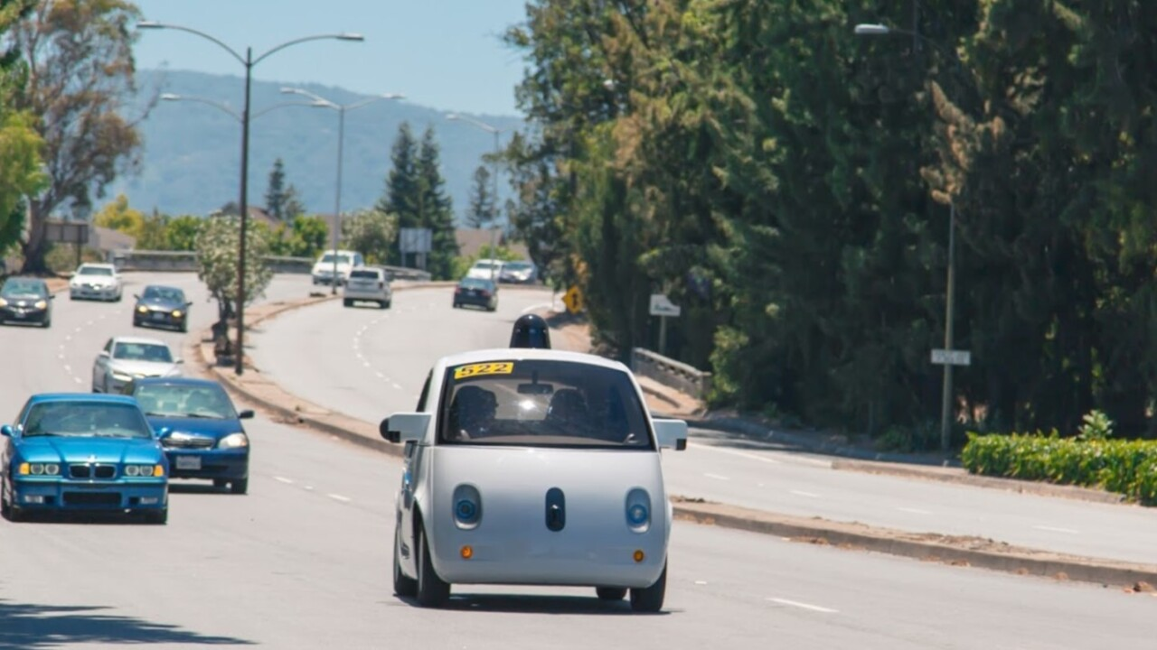 Google had nearly 50 self-driving cars on the road in October