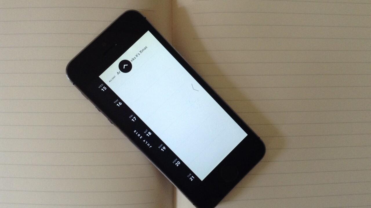 Moleskine's Timepage for iOS is the perfect minimalist calendar app