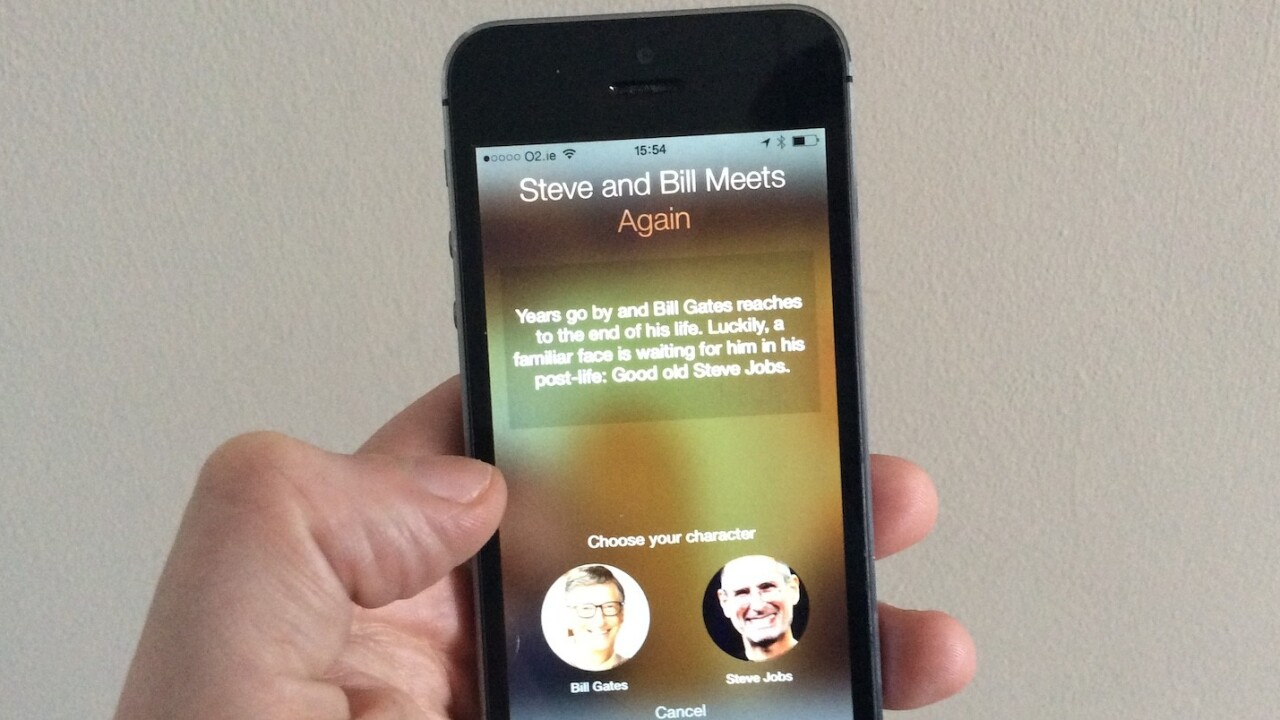 Meet the chat app where you can role-play as Bill Gates talking to Steve Jobs' ghost