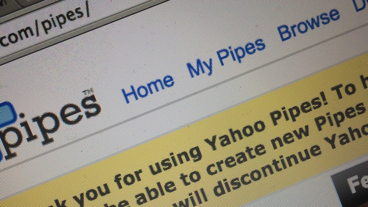 Yahoo Pipes: An obituary for a former 'internet milestone' turned busted flush
