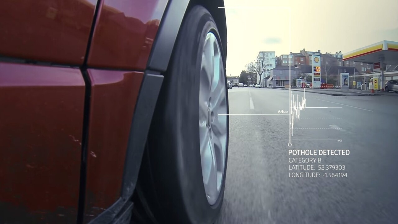 The next Range Rover will automatically detect and report potholes