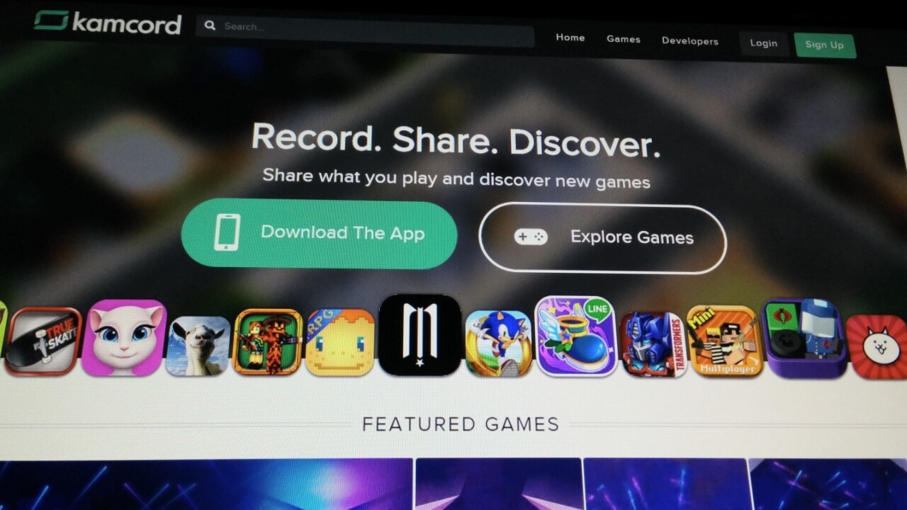 Kamcord's Android app lets you record footage from any game on your mobile device