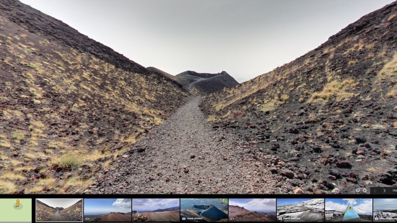 Google Street View now lets you explore the highest volcano in Europe