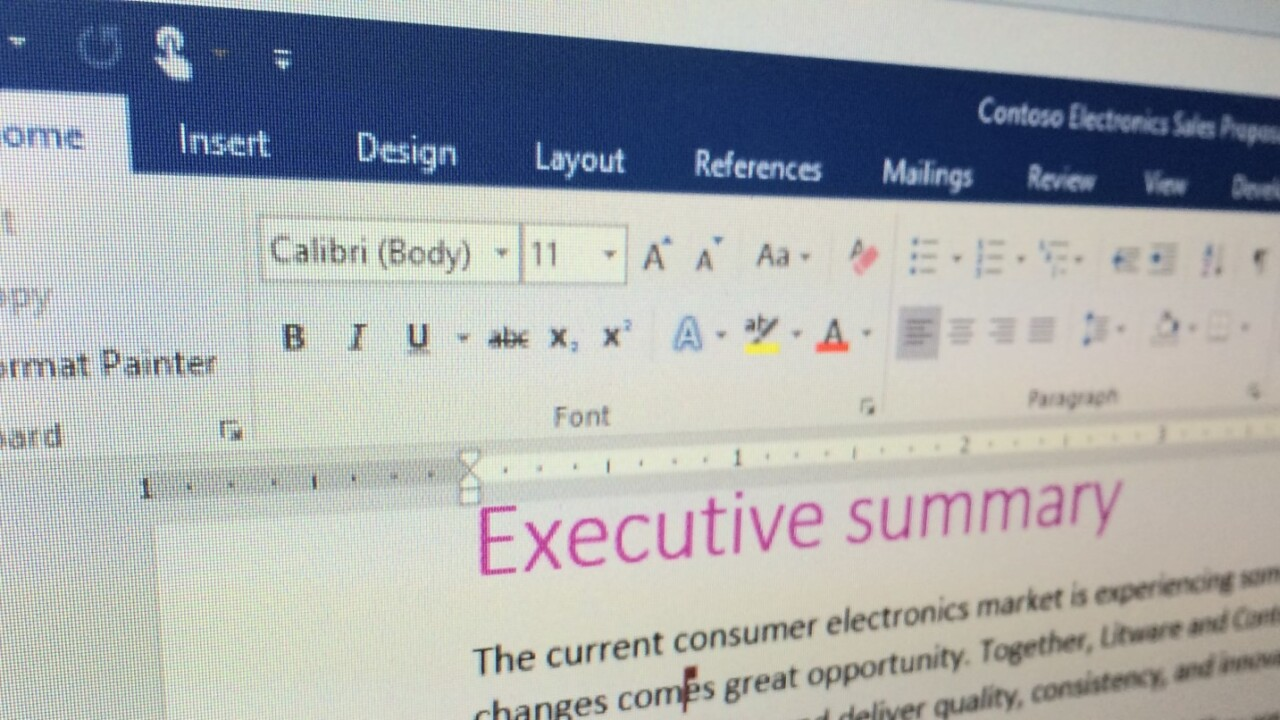 Office 2016 Preview adds improved real-time collaboration and file sharing