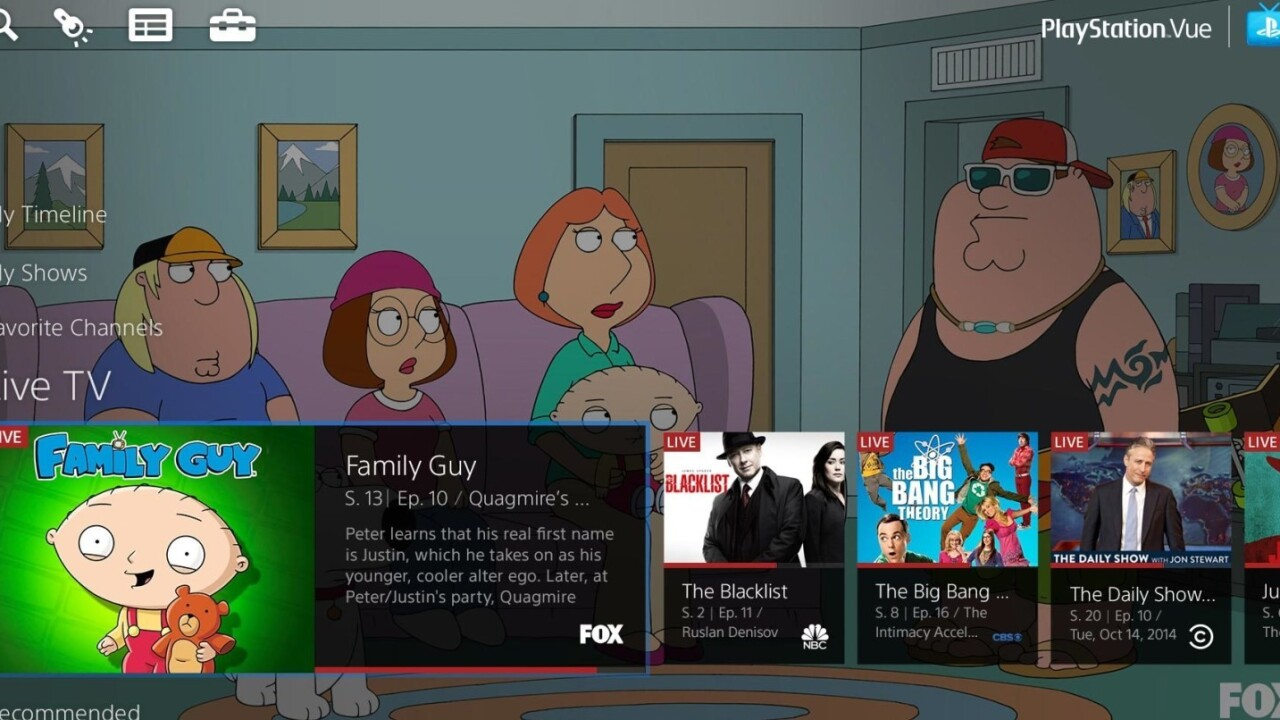 PlayStation Vue comes to San Francisco and LA, with a la carte channel offering