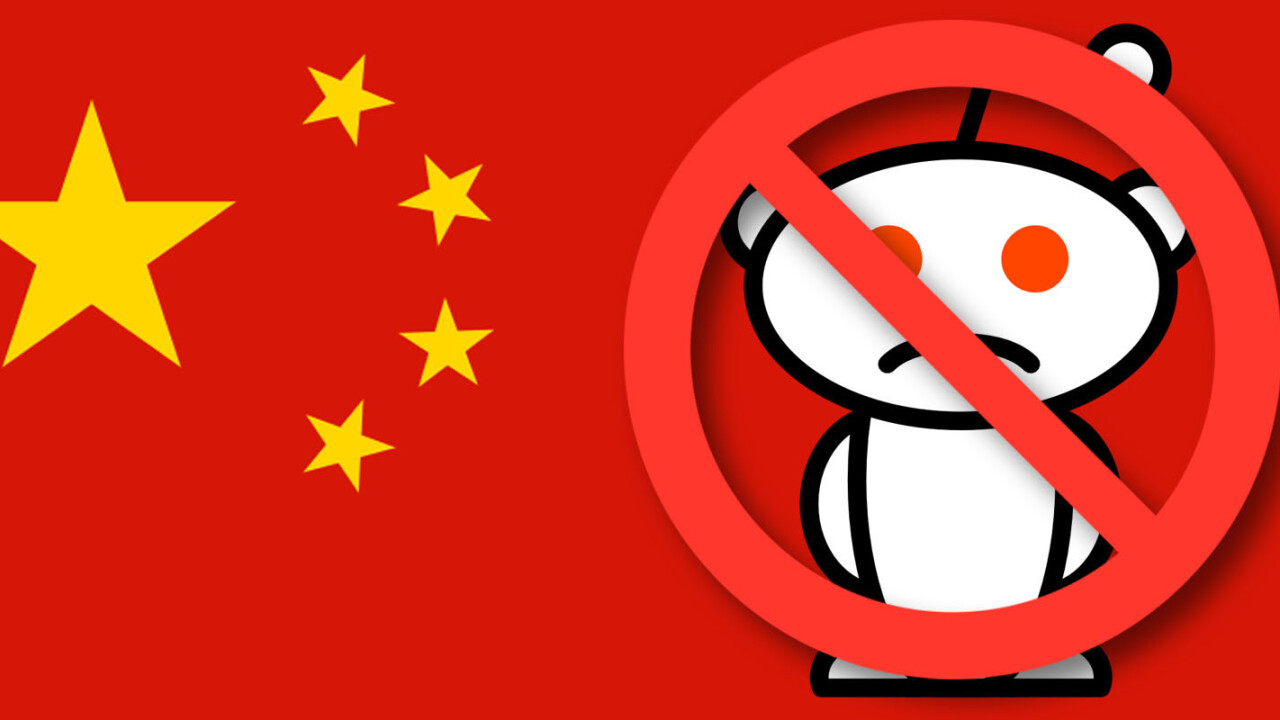 Reddit now blocked in China, joining Google, Facebook and others