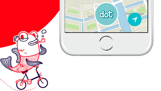 Dot is a quirky location app for mapping anything from trash cans to watering holes
