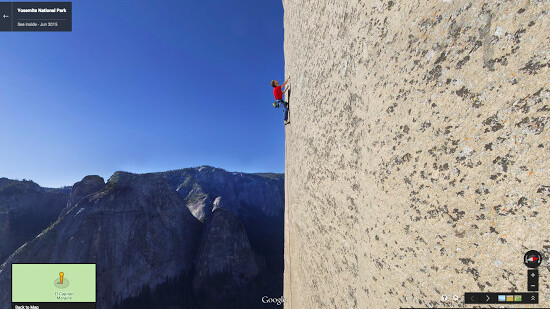 Google ascends Yosemite's El Capitan for the first vertical Street View images