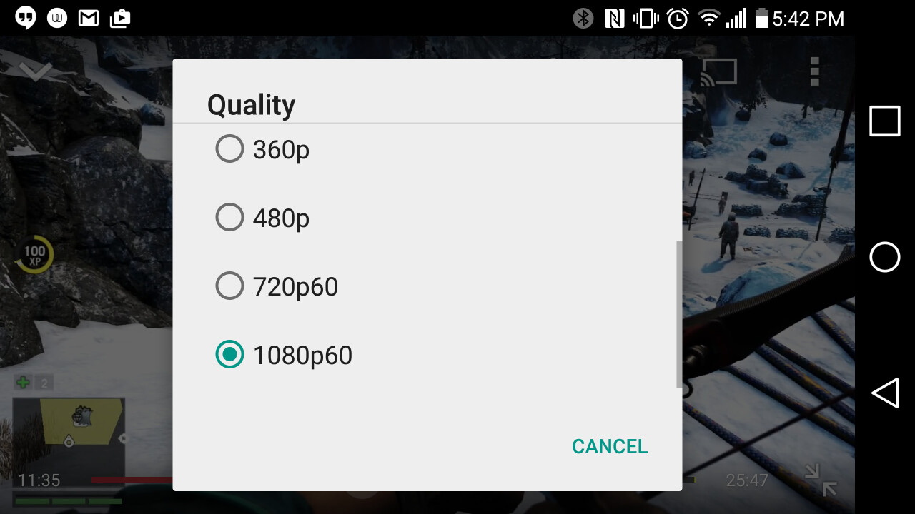 YouTube now streams 60fps video on Android and iOS