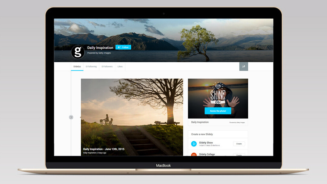Slidely pact with Getty gives users access to professional images for their creative work