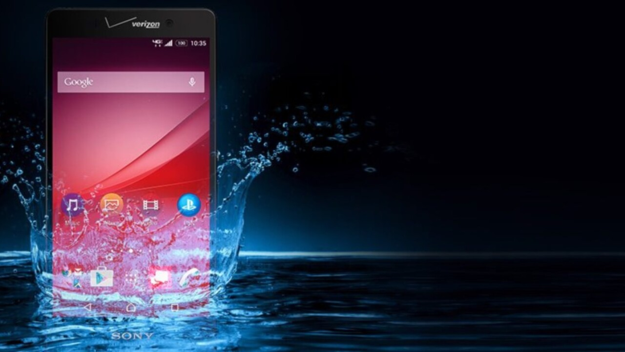 Sony's Xperia Z4v is ready to get wet with Verizon this summer