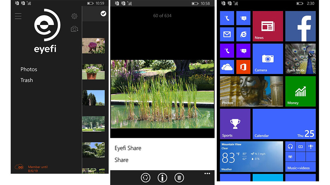 Eyefi Mobi comes to Windows Phone, bringing digicam shots to the palm of your hand