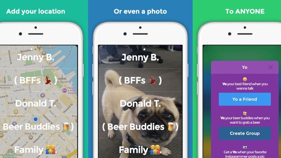 Yo for iOS now lets you share pictures, even with groups