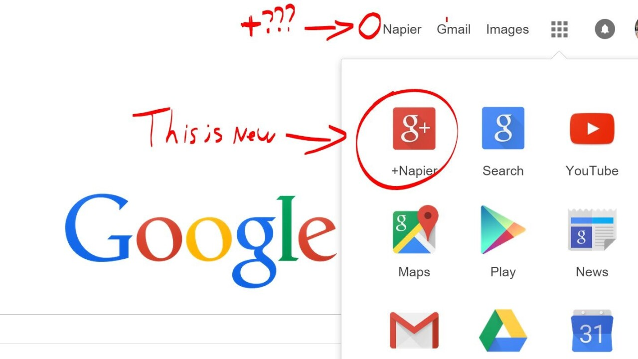 Google is hiding Google+ profile links throughout its pages