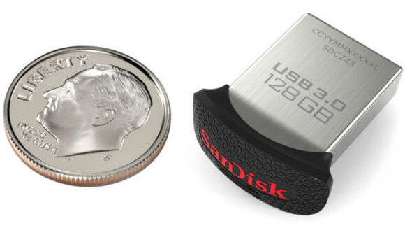 SanDisk packed 128GB into a USB 3.0 drive the size of a dime
