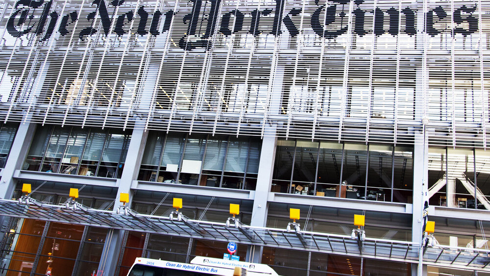 The New York Times wisely blocks staff from viewing its desktop homepage