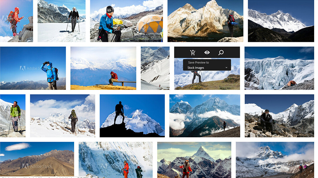 Adobe integrates stock images directly into Creative Cloud desktop apps