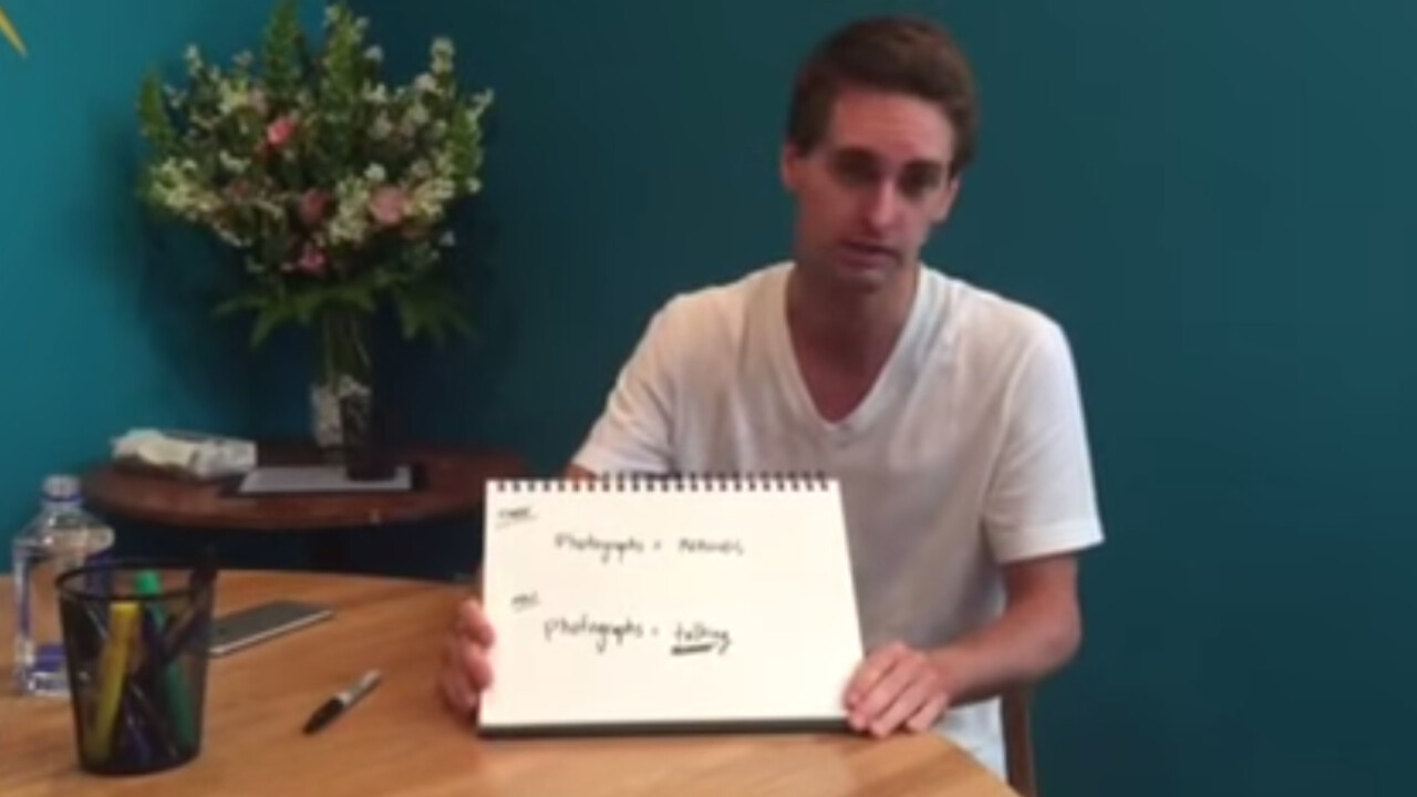 Snapchat CEO just uploaded a ridiculously low-res video explaining Snapchat