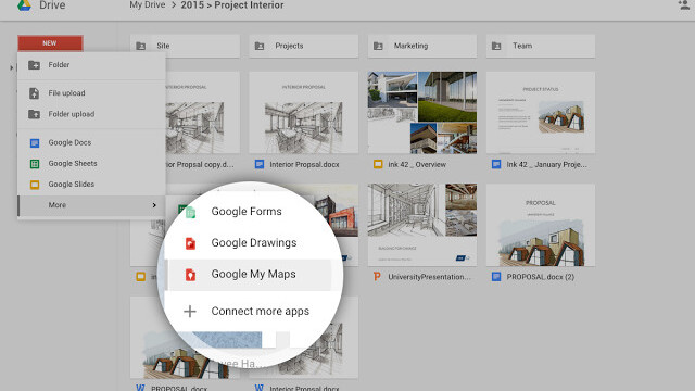 Google now lets you create and share custom maps from Drive