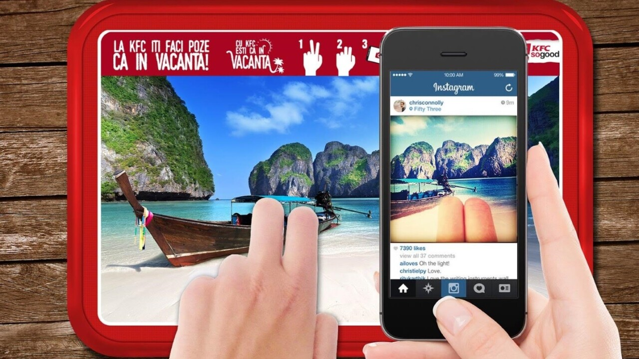 KFC wants you to troll your friends with fake vacation pictures on Instagram