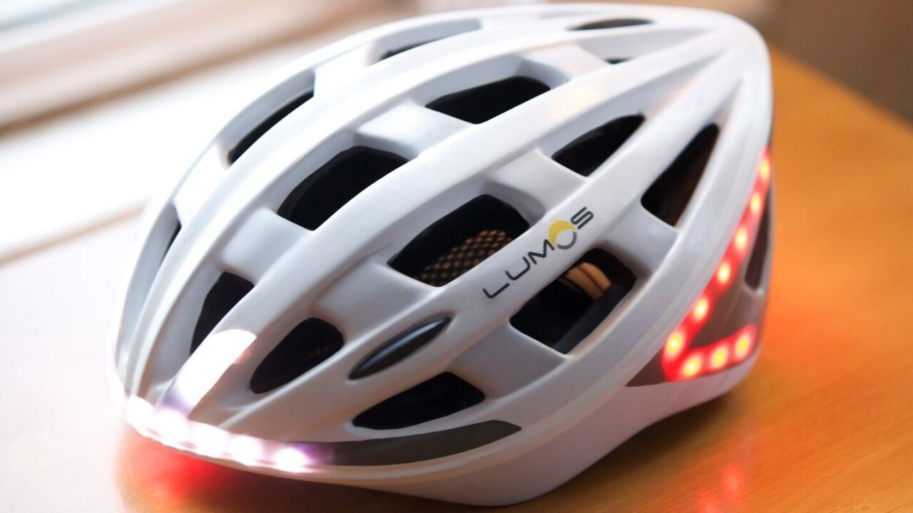 Your new bike helmet could have built-in safety lights and turn indicators