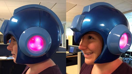 Finally go full Mega Man with this sweet helmet