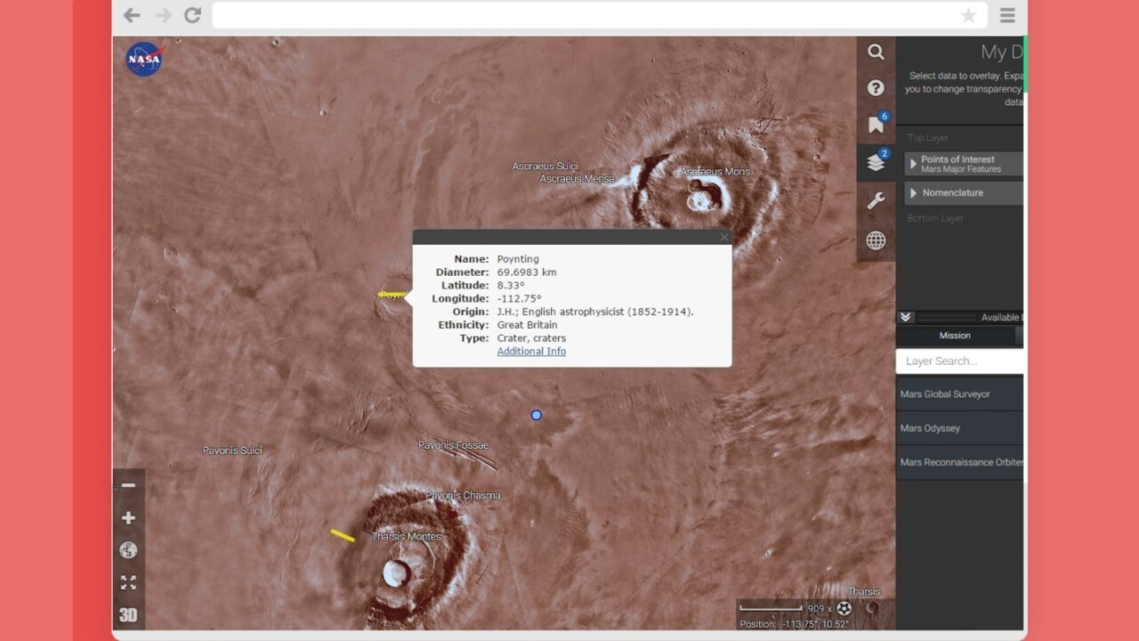 NASA's launched an app to explore Mars from the comfort of your home